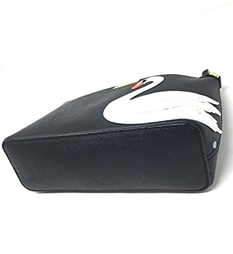 Handbag Leather Around Spade Swan Crossbody Millie Kate Black qw0tnXp