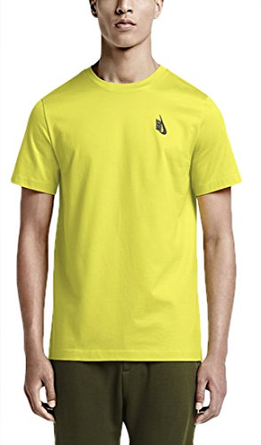 NIKE NikeLab Essentials Yellow Tee/Electrolime and Black Men's T-Shirt (Small, Yellow, Volt, Electrolime)