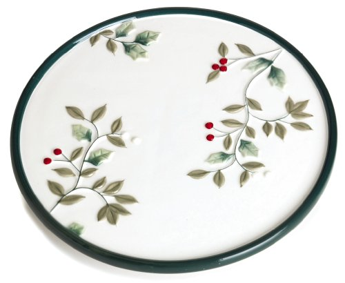 Pfaltzgraff Winterberry 8-Inch Stoneware Trivet (Winterberry Collection Tableware)