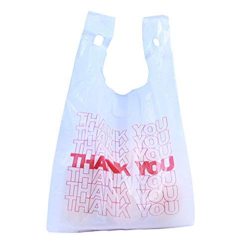 R Noble Thank You Reusable Grocery Plastic Bags 300 Count -