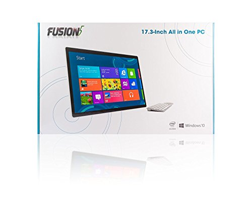 17.3'' Ultra Slim All-in-One Desktop PC with Battery - (Intel N3350, HD Graphics 500, Touch Screen, Camera, Wi-Fi , Bluetooth, Windows 10, HDMI, Wireless keyboard and Mouse (4GB RAM and 500GB HDD) by Fusion5 (Image #7)