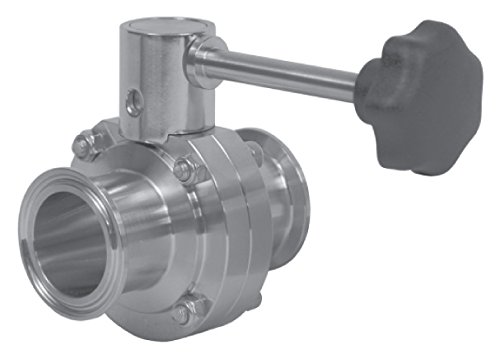 Dixon Sanitary B5101 Butterfly Valve 2-1//2 Clamp Ends w//FKM Seat /& Infinite Handle