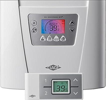Eléctrica de flujo dinámico caliente de la caldera calentador instantáneo de agua coloreada pantalla 18-27 kW con el panel de control inalámbrico: ...