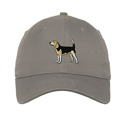Grey 6 Panel Cotton Twill - Speedy Pros Beagle Style 1 Twill Cotton 6 Panel Low Profile Hat Light Grey