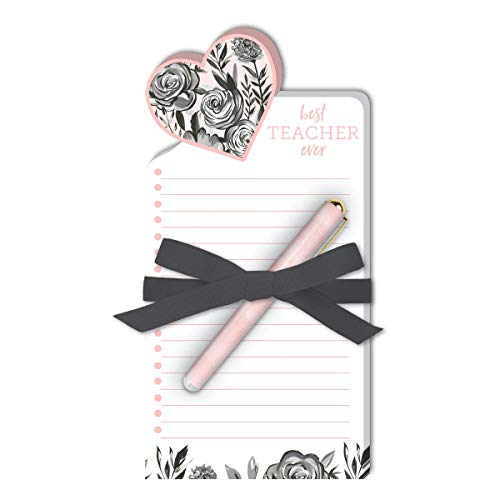 Lady Jayne Best Teacher Ever Die-Cut Note Pad with Pen (11897)
