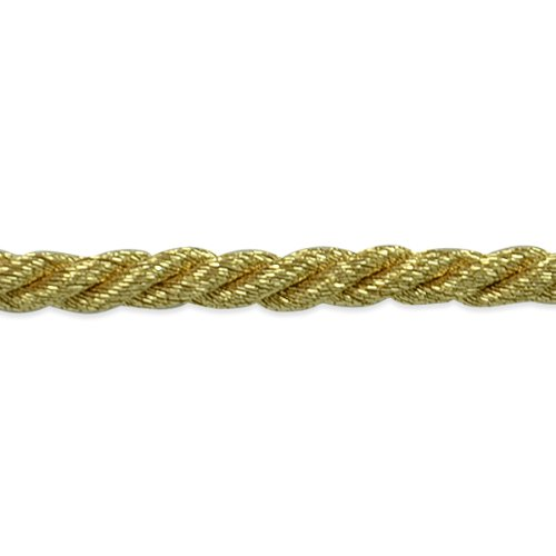 Expo International 20-Yard Phoenix Twisted Cord Trim Embellishment, 1/8-Inch, Metallic Gold