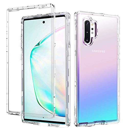 Galaxy Note 10 Plus Case GUAGUA Samsung Galaxy Note 10+ 5G Case Clear Crystal 3 in 1 Hybrid Cover Shockproof Protective Phone Cases for Samsung Galaxy Note 10+ Plus/5G/Pro 6.8-inch 2019 Transparent (The Best Case For Galaxy Note 3)