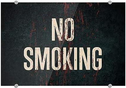 5-Pack No Smoking CGSignLab Ghost Aged Rust Premium Acrylic Sign 18x12