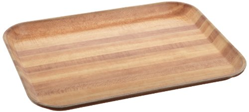 Carlisle 1410WFG092 Fiberglass Glasteel Wood Grain Rectangular Tray, 13.75