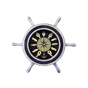 417HDd24AGL._SS300_ Best Ship Wheel Clocks