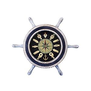 417HDd24AGL._SS300_ Coastal Wall Clocks & Beach Wall Clocks