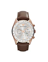 Emporio Armani Sportivo Leather Chronograph Mens Watch AR5995