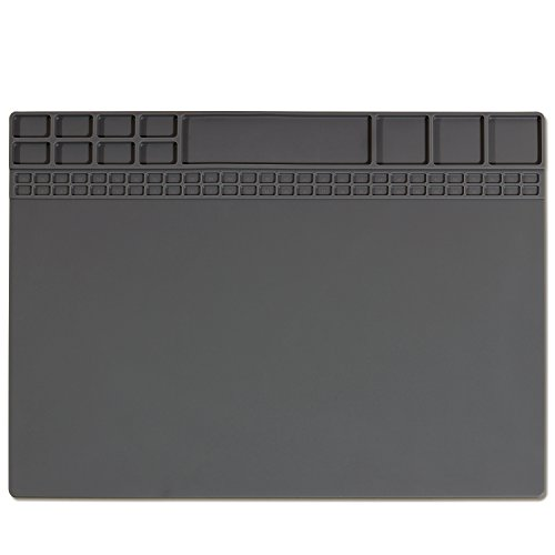 Soldering Mat Heat Resistant 932°F Magnetic Silicone Electronic Repair Mat  for Cellphone, Laptop, Computer, Heat Insulation Pad for Soldering Iron Station15.9