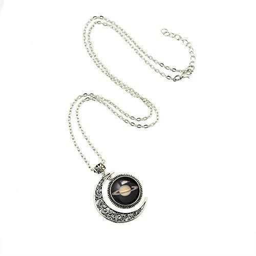Moon jewelry SATURN Planet pendant necklace SATURN necklace SATURN Planet necklace Charm SATURN pendant Photo #2