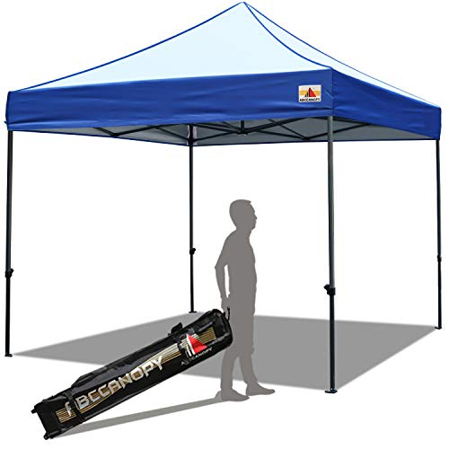 ABCCANOPY Pop up Canopy Tent Commercial Instant Shelter with Wheeled Carry Bag, 10x10 ft Edge Blue