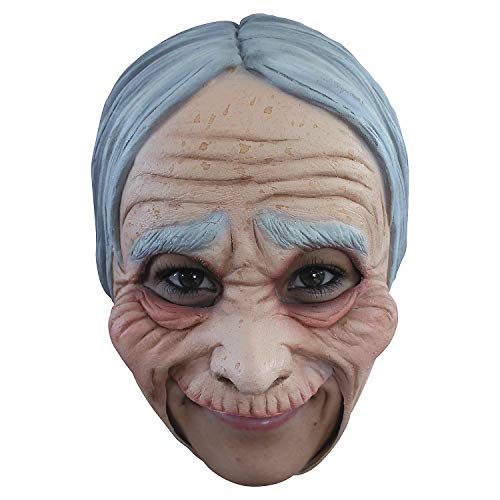 Fun Express - Old Lady Adt Chinless Adt Mask for Halloween - Apparel Accessories - Costume Accessories - Masks - Halloween - 1 Piece]()
