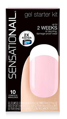 Sensationail Gel Polish Starter Kit, French Manicure Sheer ()