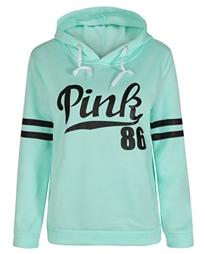 Long Sleeve Sweatshirt for Women Letters Printed Hoodie Casual Pullover Fleasee