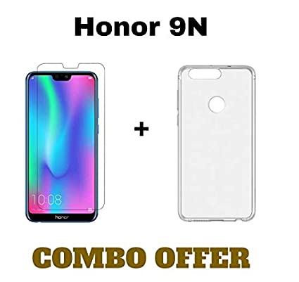 various colors d8706 c9352 MGRJ® Honor 9N Tempered Glass and Back Cover (Combo Pack)