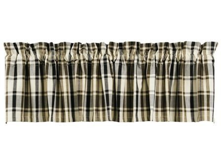 (IHF Window Valance Mosswood Valance Treatments Unlined Cotton 72 x 14 Inches in Olive and Cream Color )