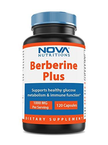Nova Nutritions Berberine plus 1000 mg per serving 120 Capsules