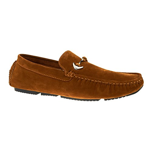 New Mens Slip On Casual Boat Deck Moccasin Designer Loafers Driving Shoes Size Tan