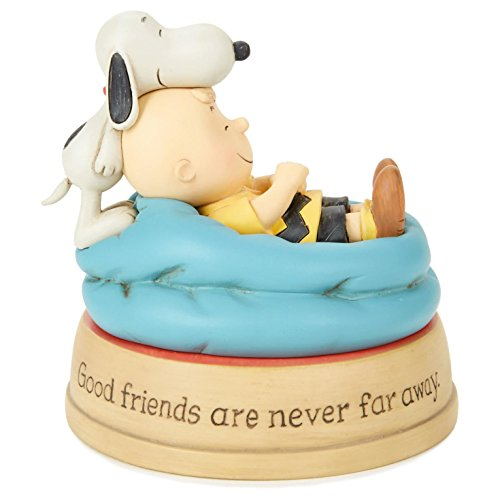 Hallmark Peanuts Good Friends Charlie Brown and Snoopy Figurine -