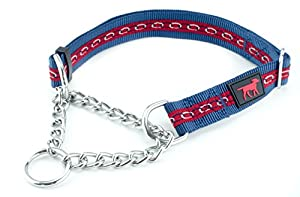 70%OFF Heavy Duty Martingale Training Collar by Tuff Pupper | Limited Cinch Collar | Adjustable Size | Stainless Steel Chain | Ballistic Nylon