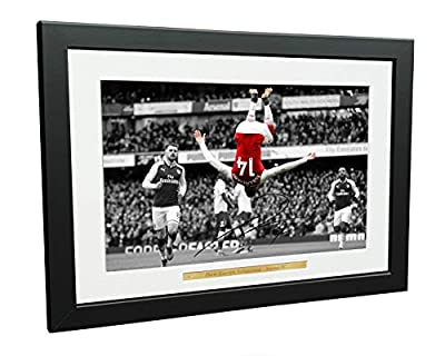 12x8 A4 Signed The Backflip Pierre-Emerick Aubameyang Arsenal FC Autographed Photo Photograph Picture Frame Football Soccer Poster Gift