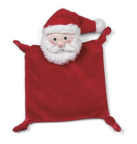 (Bearington Baby Wee Santa, Small Christmas Stuffed Animal Lovey Security Blanket, 8