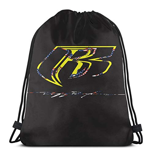 - P77YTDEUFOL Ruff Ryders Durable Drawstring Backpack For Mens And Womes One Size White