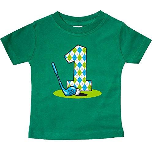 inktastic - Argyle Golf 1st Birthday Baby T-Shirt 18 Months Kelly Green 2486a ()