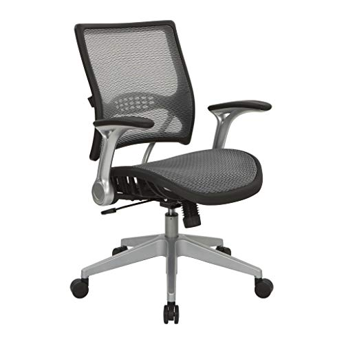 OSP Home Furnishings 67 Series Chair, Black (Osp Professional Breathable Mesh)
