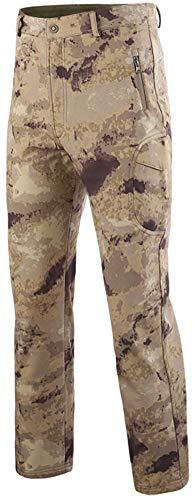 Trousers Camo Desert - AbelWay Men's Outdoor Mountain Waterproof Windproof Fleece Ski Snow Pants Hiking Trousers(FH Camo,M)