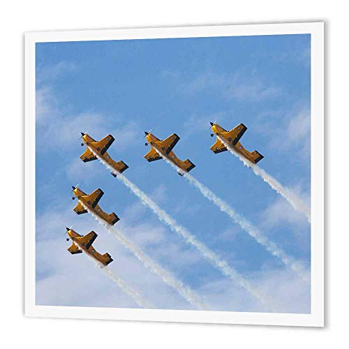 3dRose New Zealand, Warbirds Over Wanaka, Vintage Airplanes-AU02 DWA5977 David Wall Iron on Heat Transfer for White Material, 10 by 10