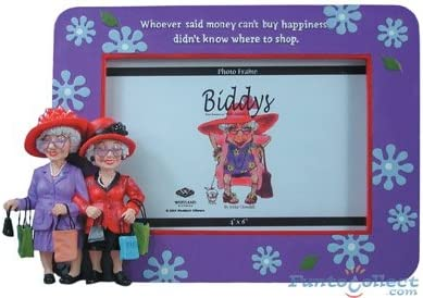 Amazon Com Coots Biddys Photo Frame Shoppers Collectible Figurines