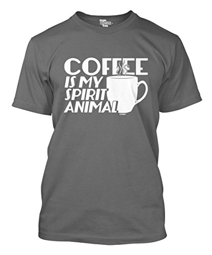 - Coffee is My Spirit Animal Men's T-Shirt (Charcoal, XXX-Large)