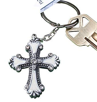 Fashioncraft Cross Design Keychain - Gift Tag-