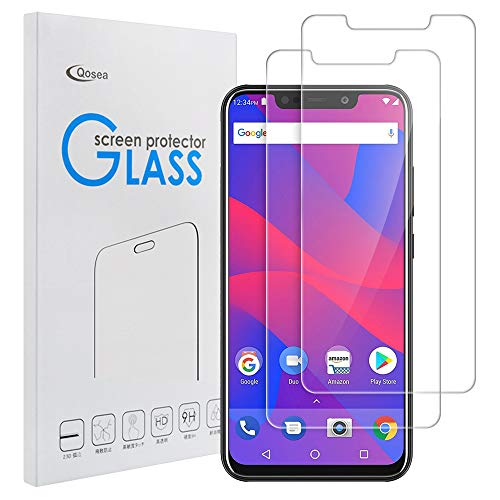 Qoosea Compatible with BLU VIVO XL4 Screen Protector [2 Pack] Ultra-Thin 2.5D 9H Anti Scratch Hardness Crystal HD Clear Scratch Resistant Tempered Glass Film for BLU VIVO XL4