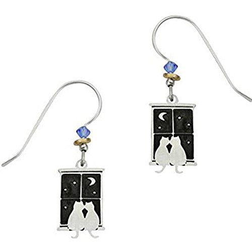 (Sienna Sky Artisan Kitty Pals in Window Earrings with Gift Box)