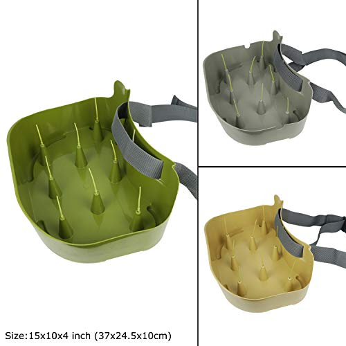 Riverruns Line Basket Authentic Danish Fisker Design Fly Fishing Stripping Basket Ergonomic Smooth Curved Super Light Minimize Line Tangles Maximum Casting Distance with Silicone Spike for Line Tray