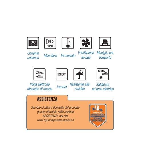 Soldador inverter Hyundai 160 A Ligh Duty MMA 45120: Amazon.es: Bricolaje y herramientas