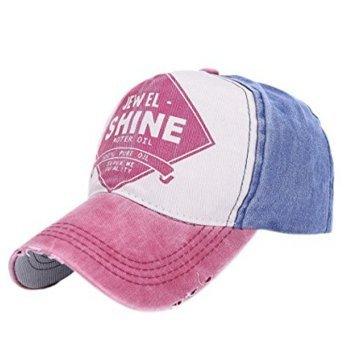 casual deportes y para estilo béisbol libre mujer hombre rosa para de al azul aire Gorros Whobabe 8vwqpB