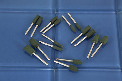 TEMO 16 pcs RUBBER Polishing Burr 4, 6, 8, 10mm Bullet Cylinder for Dremel and compatible