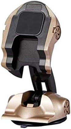 YIKETING 自動車用品ゴールドカーモデルシンプルな吸盤車電話サポート電話台紙 (色 : Gold 1)
