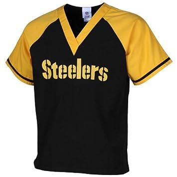 fa820fadf96 NFL Pittsburgh Steelers Black-Gold Raglan Color Block Scrub Top Medium,  Sports Apparel - Amazon Canada