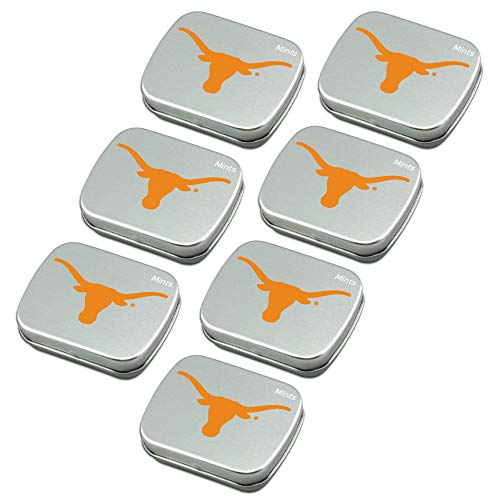Worthy Promo NCAA Texas Longhorns Party Favors Sugar-Free Peppermint Candy Mint ()