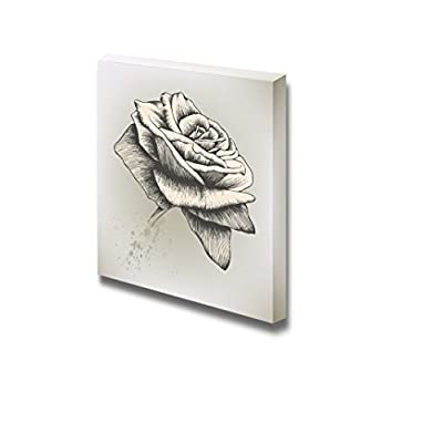 Canvas Prints Wall Art - Vintage Rose, Hand-Drawing. Vector Illustration. - 16