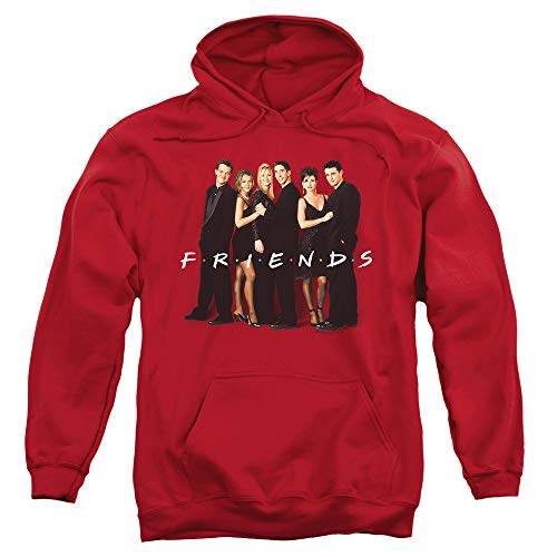 Popfunk Friends TV Show Central Perk & Cast Logo Pullover Hoodie Sweatshirt & Stickers (X-Large)