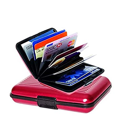 detailed look 0d774 8386b bchild Aluma Security Aluminium Credit Card Wallet Holder Case Box  Protector (Red)